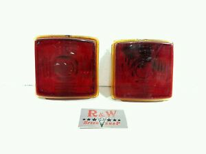 1949 50 Frazer Glass Lower Tail Light Lens Right And Left Pair