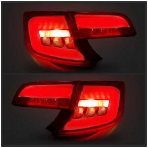 Led Red Clear Tail Lights For Toyota Camry 2012 2014 Rear Lamps Assembly