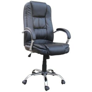 Homegear Pu Leather Executive Wheeled Computer Desk Chair Office Chair