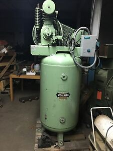 5hp Three Phase Saylor Beall Industrial Air Compressor Vt 735 80