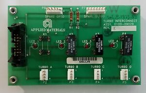 Applied Materials Turbo Interconnect Board 0100 09027 Amat Precision 5000