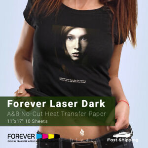 Forever Laser Dark no cut A B Heat Transfer Paper 11 X 17 10 Sheets
