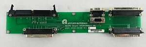 Applied Materials Recipe Select Interconnect Board Amat 0100 00168 Precision