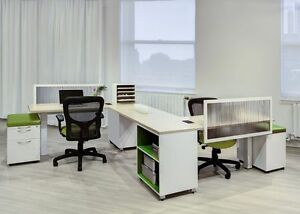 Calibrate Modern Collaborative Office Workstation desk table cubicle benches