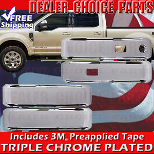 2017 2018 Ford Superduty 4dr Crew Cab Chrome Door Handle Covers With Smart Key