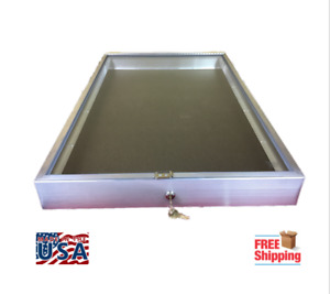 Aluminum Display Case End Opening 22 X 34 X 31 4 Knives Cards Gun Jewelry More