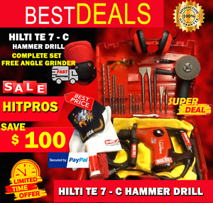 Hilti Te 7 c Drill Preowned Free Angle Grinder Free Bits Fast Ship