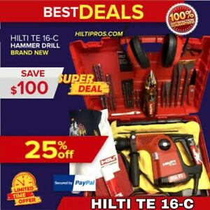 Hilti Te 16 c Hammer Drill New Free Bits Free Thermo Bottle Fast Ship