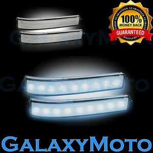 Ford 09 14 F150 Side Mirror Led turn Lights White Led clear Lens Reflector