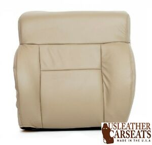 2004 2008 Ford F150 Driver Side Lean Back Leather Seat Cover Medium Pebble Tan