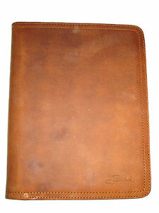 Genuine Saddleback Leather Old Style Script Logo Medium Notepad Holder Tobacco