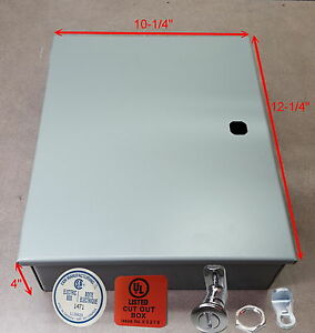 Electrical Enclosure nema 1 12 X10 X 4 Hinged Made In Canada