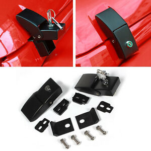 2pc Hold Down Lock Hood Latch Pin Catch Kit For 07 16 Jeep Wrangler Jk Unlimited