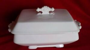 Early White Ironstone Tureen England Pankhurst Co Rectangle Johnson Brothers