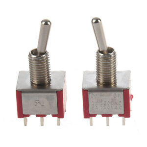 2 Pcs On on 2 Position Double Pole Double Throw Toggle Switch N3