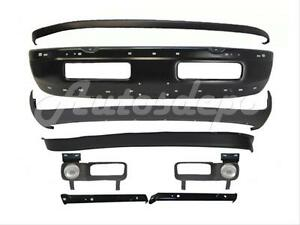 For 94 98 Dodge Ram 1500 2500 3500 Front Bumper Black Upper Valance Air Dam 10pc