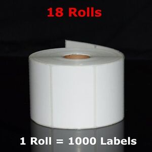 18 Rolls 2 25 x1 25 Direct Thermal Barcode Labels 1000 roll Zebra Lp2844 Lp2824
