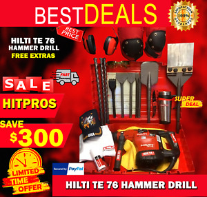 Hilti Te 76 Preowned Free Bits And Chisel Free Extras Fast Ship