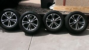 4 Like New Ford Mustang Oem 17 Rims With 225 60 17 Bf Goodrich Tires