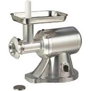 New Adcraft Electric Meat Grinder 12 Head 1hp 120v