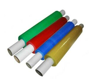 Strong Pallet Shrink Wrap Stretch Film Red Green Yellow Blue Tinted 400mm 20mu