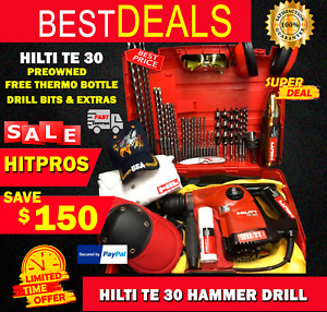 Hilti Te 30 Preowned Free Thermo Bottle Drill Bits Extras Fast Ship