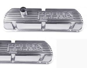 New Mustang Shelby Cobra Solid Letter Valve Covers Powered By Ford Polished 289