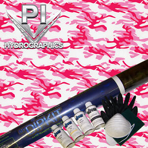 Hydrographic Kit Hydro Dipping Water Transfer Print Hydro Dip Pink Camo Mc 240
