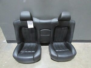 Maserati Granturismo Rear Seat Assembly Black Leather Used