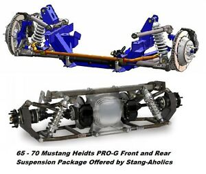 1965 66 67 68 69 70 Heidts Mustang Pro g Front And Rear Suspension Package