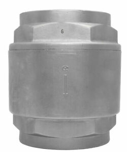 3 Stainless Steel 316 In Line Spring Check Valve 150 Lb Class