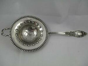 Gorgeous Vintage Manchester Lady Clare Sterling Silver Tea Strainer Spoon Pk11