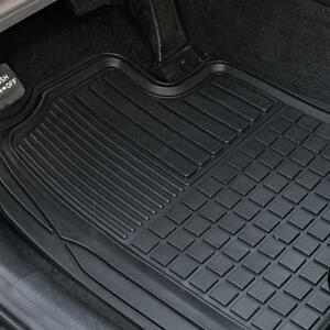 Heavy Duty Trim Fit Rubber Car Floor Mats Grid Trapping Design Semi Custom 2pc