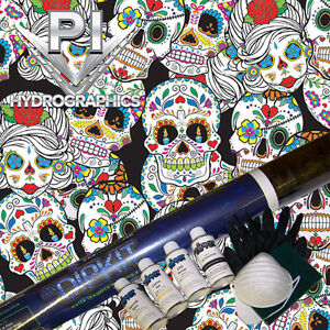Hydrographic Kit W Activator Paint Hydro Dipping Hydro Dip Sugar Skulls Ll874
