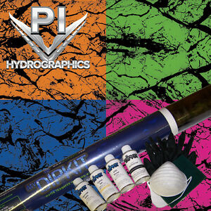 Hydrographic Kit Hydro Dipping Water Transfer Print Hydro Dip Black Marble Ms995