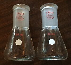 Wilmad Labglass 50 Ml Erlenmeyer With 24 40 Tapered Joint Lg 7750 120 2 pk