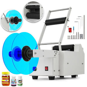 Mt 50 Semi automatic Round Bottle Labeling Machine Printer Alloy Scrolling