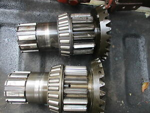 1957 Massey Harris 444 Gas Tractor Bull Pinion Brake Shaft Free Ship