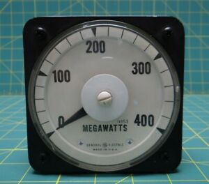 General Electric Db 40 Panel Meter 11353 0 400 Megawatts Cat 50 103111fxzz1jgc