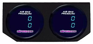 Two Dual Digital Display 200psi Air Gauges Panel No Switch Air Ride Suspension