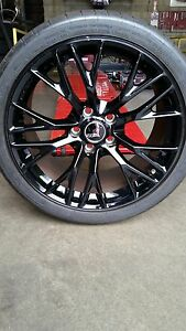 Set Of 4 Oem Corvette Z06 19 20 Wheels Tires Excellent Condition