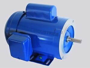 Ac Motor 1hp 1725rpm 1ph 115v 208 230v 56c tefc With Base