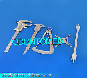 Dental Orthodontic Instruments Ortho Bracket Positioning Gauges Caliper New
