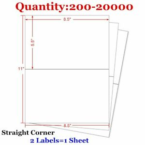 200 20000 8 5x5 5 Shipping Postage Label Half Sheet Self Adhesive For Fedex Usps