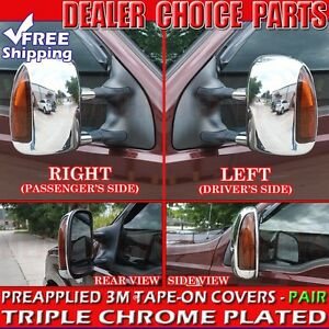 1999 2007 Ford F250 f550 Super Duty Towing Chrome Mirror Covers W turn Sig Hole