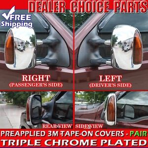 2000 2005 Ford Excursion Chrome Mirror Covers Towing W Turn Signal Cutout