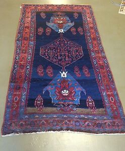 Hand Knotted Sami Antique Bijar Persian Rug 100 Wool 4 7 X 8 1
