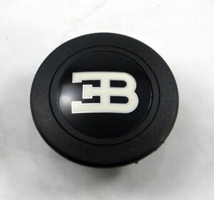 Personal Steering Wheel Horn Button Black With Bugatti Logo Made In Italy