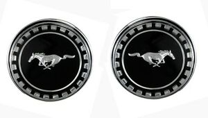New 1969 Mustang Fastback Roof Ornaments Pair Pillar Post Emblems
