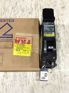Fy14030a Square D Circuit Breaker 1 Pole 30 Amp 277v new In Box